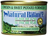 Natural Balance Canned Dog Food, Grain Free Limited Ingredient Diet Chicken and Sweet Potato Recipe, 12 x 6 Ounce Pack