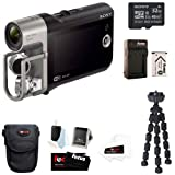 Sony HDR-MV1 Music Video Recorder (Black) with Sony 32GB Micro SDHC Card plus Camera Case and Accessory Kit