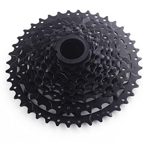 - SunRace 9 Speed Fahrrad Zahnkranz Kassette 11-40T Shimano Sram Kompatible (Black)