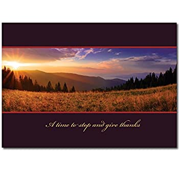 Thanksgiving Greeting Card TH1502. A scenic card for businesses to send to those clients and associates who have helped them throughout the year.