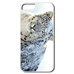 IPhone 5S Cases, Snow White Leopard Wide Cases For IPhone 5 5S - White Hard Plastic