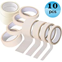 Masking Tape for Painting 10 Pack 50mm×20m 30mm×20m 20mm×20m 10mm×50m Decorating Adhesive Tape