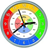 Educational-Wall-Clock--Silent-Movement-Time-Teaching-Clock-for-Teachers-Classrooms-and-Kids-Bedrooms