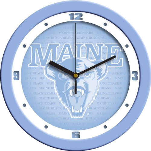 SunTime NCAA Maine Black Bears Wall Clock - Baby Blue -