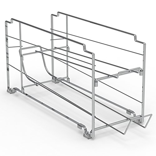 2 Pack - SimpleHouseware Stackable Front Loading Beverage Can Dispenser Rack, Chrome by Simple Houseware (Image #5)