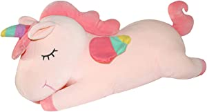 AIXINI Pink Unicorn Stuffed Animal Plush Toy,11.8 Inch Cute Soft Unicorn Plush Animal Toy Pillow Doll, Gift for Kids Babies Birthday Party Home Décor