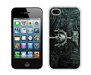 Hot Sale iPhone 4 4S Case ,Beautiful Unique Designed Case With Warhammer 40K White iPhone 4S Cover