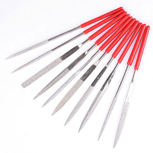 10-Piece Diamond Needle File Set Blade Jewelry Glass LASHOP