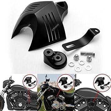 Motocicleta bocinas protectora Negro Cuerno Cover para 1992 - 2014 Harley Davidson V Twin Cam Style: Amazon.es: Coche y moto