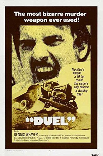 Duel Broadsheet Movie C 27 x 40 Inches - 69cm x 102cm Dennis Weaver Jacqueline Scott Eddie Firestone Gene Dynarski Lucille Benson Tim Herbert