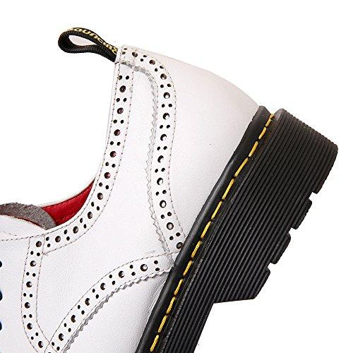 Nine SevenLace-up Flats - Zapatos Planos con Cordones mujer blanco