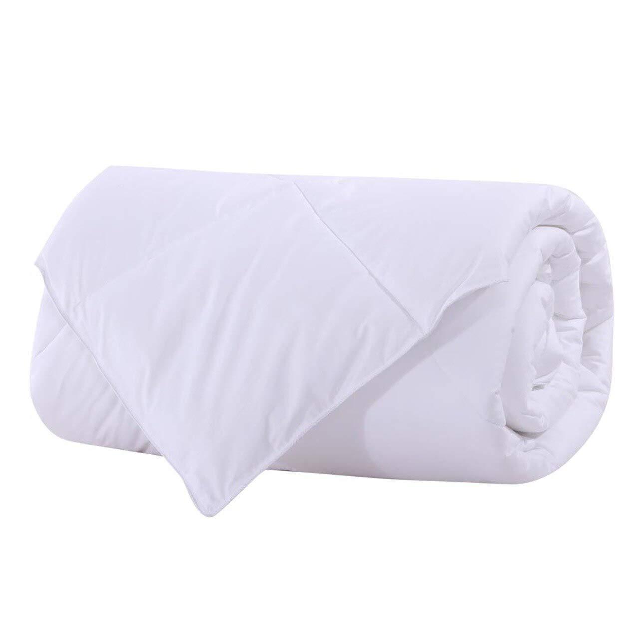 Royal Bedding Abripedic Bamboo Fiber Filled Blanket, Down Alternative Duvet Insert, 100% Cotton Shell, Breathable, Hypoallergenic, King/California-King Size, White