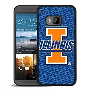 Unique And Popular HTC ONE M9 Case ,Ncaa Big Ten Conference Football Illinois Fighting Illini 17 Black HTC ONE M9 Screen Cover Beautiful Designed