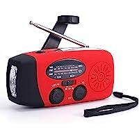$39 » Weather Radio Raynic Solar Hand Crank Emergency Radio 5 Ways Powered AM/FM/SW/NOAA…