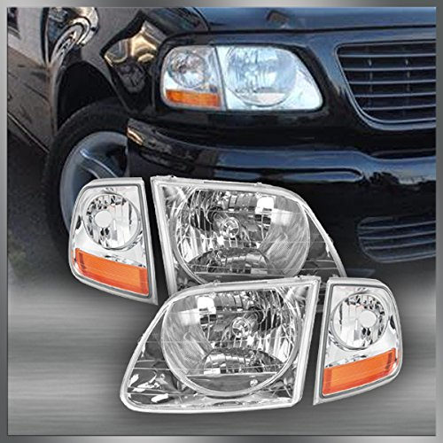 (Headlights & Corner Parking Lights Kit Set for F150 Expedition Lightning Style)