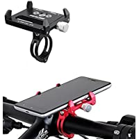 MaoFa Bike Phone Mount Bicycle Holder,Aluminium Alloy Bicycle & Motorcycle Handlebar Cradle,Universal Fit for iPhone 7/6s/6/5s/5c,Samsung S8/S7/S6/Note, Nexus,Xiao Mi,GPS