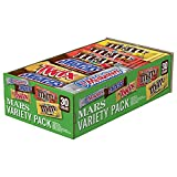 SNICKERS, M&M'S, 3 MUSKETEERS & TWIX Full Size Bars Christmas Candy Variety Mix, 30-Count Box
