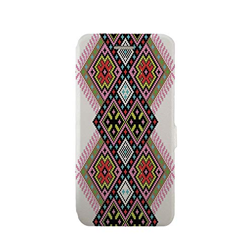 (Phone case Compatible with iPhone 6 iPhone 6s 3D Printed PU Skin Cover Protection Sleeve,Elements Arabesque Knitting Motifs Inspired,Premium PU Leather Magnetic Flip Folio Protective iPhone case)