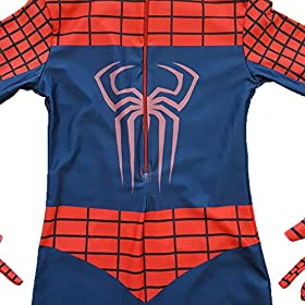 - 51X79sKx8pL - Kids Spiderman Costume Child Superhero Cosplay Elastic Jumpsuit Amazing Spandex Zentai Suit Halloween Boys Costumes