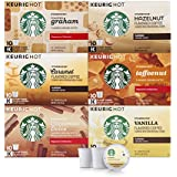 Starbucks Flavored Coffee K-Cup Variety Pack for Keurig Brewers, 6 boxes of 10 (60 total K-Cup pods), 60 Count