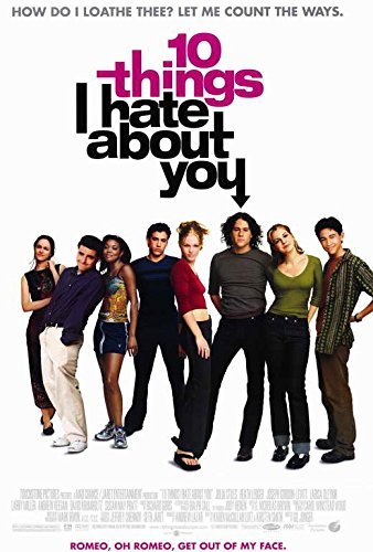 Image result for ten things i hate about you 1999 poster