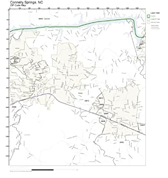 Amazon.com: ZIP Code Wall Map of Connelly Springs, NC ZIP Code Map