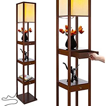 Floor Lamp With Shelves By Light Accents Shelf Floor Lamp