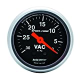 Auto Meter 3384 Sport-Comp Mechanical Vacuum Gauge