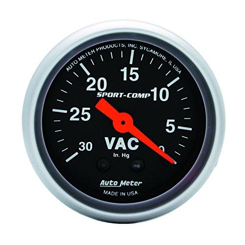 Auto Meter 3384 Sport-Comp Mechanical Vacuum (Comp Gauge Panel)