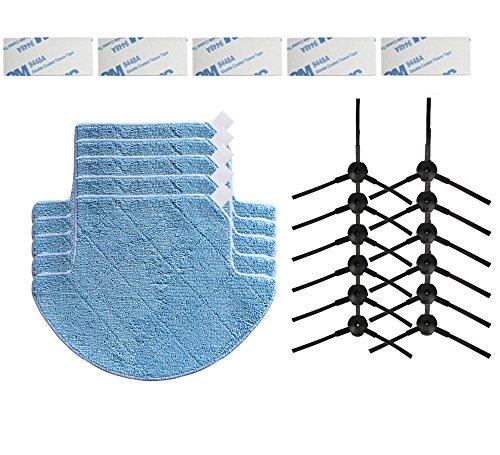 YTT alta calidad 5pcs Paños de fregona y 12pcs cepillo lateral & 5pcs Magic pasta para Chuwi iLife V7 Limpiador de robot aspiradora partes: Amazon.es: Hogar