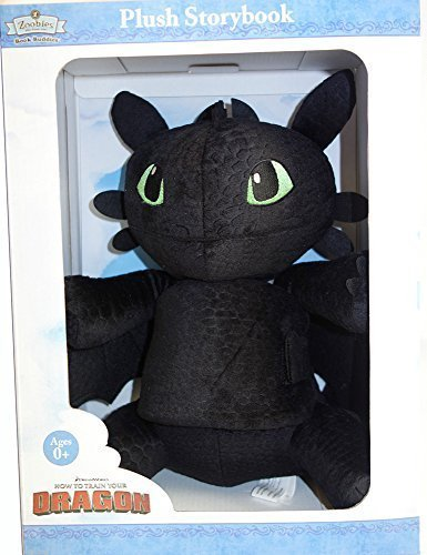 Zoobies How to Train Your Dragon Toothless Plush Soft Toy + Storybook Book Buddy (Toy Zoobies Plush Soft)