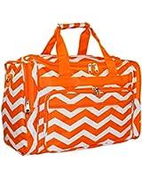 World Traveler Orange Chevron Duffle Bag 19-Inch