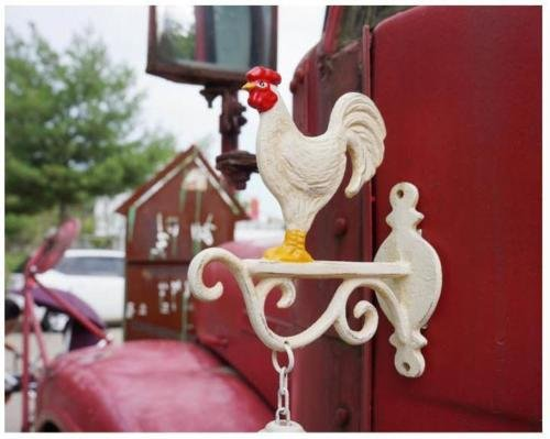 Rooster Chicken Garden Door Bell Foundry Main Home Decor Door Décor