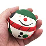 Decompression Toys, Keepwin Soft Cute Christmas Snow Man Scented Slow Rising Squishy Toys Stress Relief Toys Christmas Gift for Kids Adults (Multicolor)
