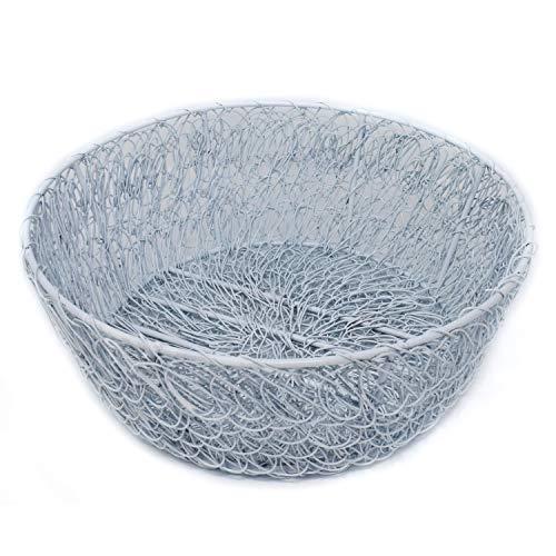 Hashcart cesta de frutas para mesa de comedor o mesa de esquina/elegante/hierro forjado/color dorado