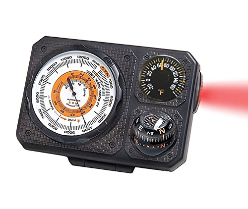 Sun Company Navigat'r 6 - Six-Function Dashboard Instrument for Car and Truck | Altimeter, Barometer, Ball Compass, Thermometer, LED Light, Signal Mirror by Sun Company (Image #3)