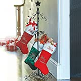 Tall Metal Christmas Stocking Holder Stand - Black by Improvement