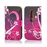 32nd® Design book wallet PU leather case cover for Motorola Moto G 3 (3rd Gen / 2015 edition) + screen protector and cleaning cloth - Love Heart