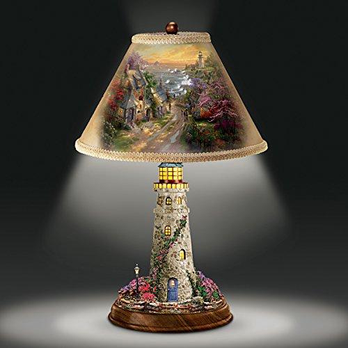 Thomas Kinkade Lamp With The Village Lighthouse Artwork On Shade ...