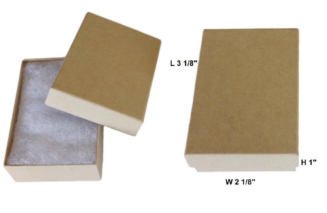 Cotton Filled Jewelry Gift Box (Kraft) #32 Pack of 16 MSC 11K-30p