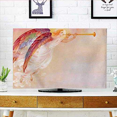 Auraisehome Protect Your TV Decor Pure Angel Saint Raphael with His Flask Wings Prayer Protection Holy Hope Protect Your TV W35 x H55 INCH/TV 60