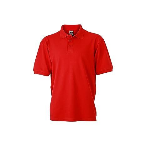 Trabajo Polo de manga corta para hombre, color Rojo - rojo, tamaño ...