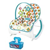 Toys : Fisher Price Infant-to-Toddler Rocker, Geo Diamonds Plus BONUS Hypoallergenic, Unscented Baby Wipes, 128 Count