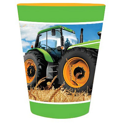 Creative Converting Tractor Time Plastic Favor Cup Party Supplies, Multicolor