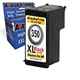 1x Black Ink Cartridge HP 350 XL Compatible for hp Photosmart C4280 C4340 C4380 C4480 C4485 C4580 C4585 C5280 D5360 Officejet J5780 J5785 Deskjet D4200 D4260 D4300 Series D4360, Printers