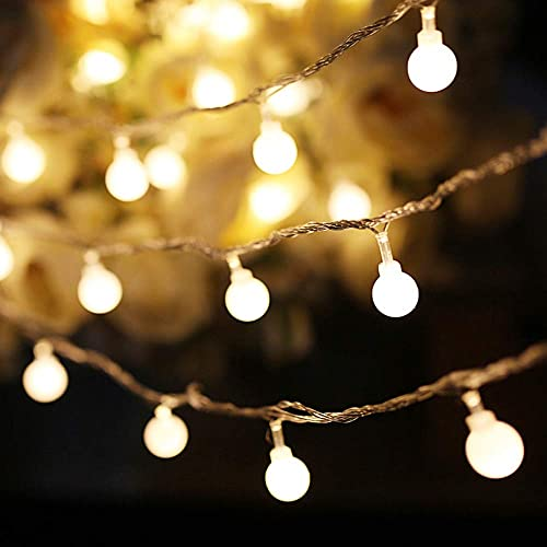 100 LED Globe String Lights Plug in for Bedroom Decor Indoor Outdoor 43 FT Christmas Fairy Light for Home Wall Garden Decorations Waterproof Warm White