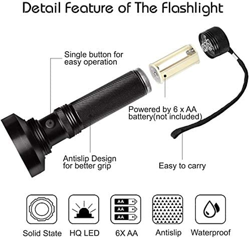 Torch, Lamp, Black Light Geocaching Geo UV Standard High Quality