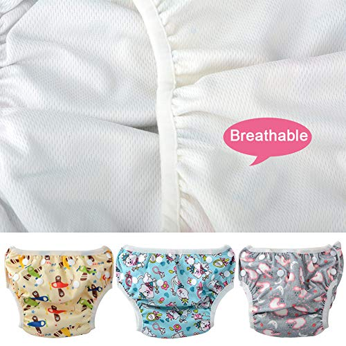 8637aa2c9c Moonvvin 3pcs Summer Baby Swimwear Diaper Newborn Swim Trunks with Waterproof  Infant Diaper Bag