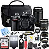 Nikon D7200 24.2 MP Dual Zoom Lens Kit DSLR Camera with AF-P DX 18-55mm f/3.5-5.6G VR & AF-P DX 70-300mm f/4.5-6.3G ED Lens and Deluxe Extended Memory Flash Bundle