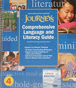 Spiral-bound Comprehensive Language and Literacy Guide Grade 4 Book